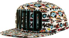 Neff Wild Snap Back Hat - white