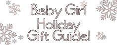 The holidays are just around the corner! Here are a few pieces that would make perfect gifts for baby girls.