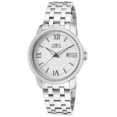 Men's Wrist Watches - Invicta Mens 18104 Specialty Analog Display Swiss Quartz Silver Watch ** Find out more about the great product at the image link. Cool Watches, Rolex Watches, Watches For Men, Wrist Watches, Stainless Steel Watch, Stainless Steel Bracelet, Boutique, Bracelet Watch, Jewelry Watches
