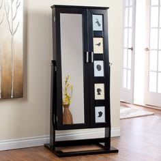 Luxury Full Length Mirror Storage Cabinet