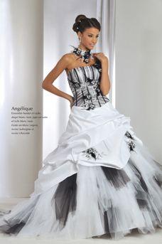 robe de mariée noir et blanc http://www.modanie.fr/robe-de-mariee ...