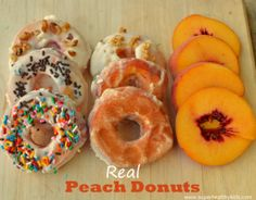 Now These Are Real Peach Donuts | Healthy Ideas for Kids