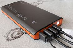 A quick charge 3.0 high capacity power bank with dual inputs for super fast recharge speeds
