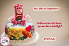 Sweet Cucas and Cupcakes by Rosângela Rolim: Mini Bolo Mesversário!