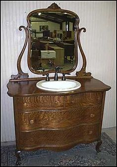 photo of front view antique bathroom vanity antique american oak dresser for bathroom vanity