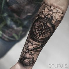 Compass I did on my buddy Zakkarin, from Thailand! Hope you like your first tattoo man! #brunosantos #dublinink #dublintattoo #dublincity #dublin #compasstattoo #ireland #BH