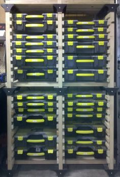 Garage / shop storage bins for small parts (nuts, bolts, screws, etc)