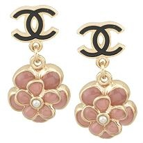chanel floral earrings, adore. rentable on avelle.com, adore more