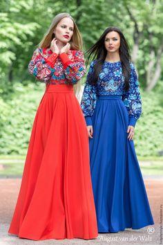 """Купить Платье в Русском стиле """"Богемный Стиль"""", А-ля Русс , из платков."""