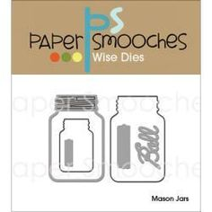 This is an awesome collection of three mason jars. You can easily create cool shaker cards. They are the perfect size for cards, gift tags and scrapbook pages. Approximate sizes, Large Jar - x Small Jar - x Simon Says, Paper Cutting, Ball Mason Jars, Paper Smooches, Small Cards, Shaker Cards, Jar Gifts, Digi Stamps, Embossing Folder