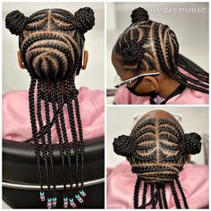 Little Girls Natural Hairstyles, Toddler Braided Hairstyles, Cute Little Girl Hairstyles, Black Kids Hairstyles, Baby Girl Hairstyles, Little Girl Braid Styles, Kid Braid Styles, Little Girl Braids, Braids For Kids