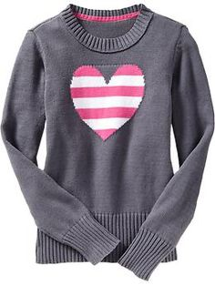 Girls Cable-Knit Crew-Neck Sweaters | Old Navy