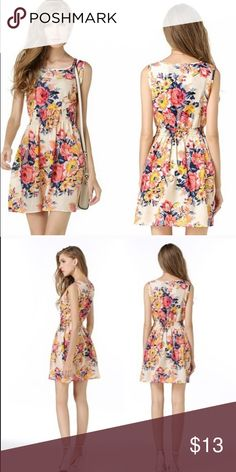0176950a54b1 Drunken Tango floral dress This dress is 100% polyester. Very lightweight  and perfect for