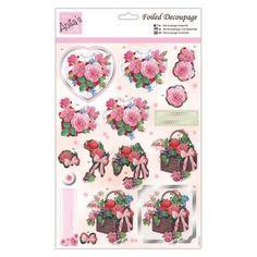 Anitas Foiled Decoupage - Valentines Blooms - Anitas from Mountain Ash Crafts UK