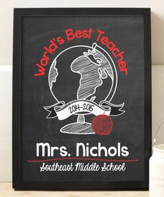 Look at this #zulilyfind! 'World's Best Teacher' Personalized Print by Hypolita #zulilyfinds