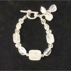 SALE Rock Quartz Jewelry, Rock Quartz Bracelet, Clear Quartz, Handmade... ($32) ❤ liked on Polyvore featuring jewelry, boho jewelry, crystal stone jewelry, stone pendants, quartz crystal pendant and clear quartz crystal pendant