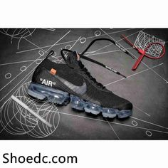 918e80432747 OFF WHITE x Nike Air VaporMax 2018 OW 2.0 Flyknit Black Women Men Air Max  Sneakers