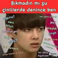 Bts Funny Videos, Bts And Exo, Bts Fans, Funny Faces, Taekook, Funny Moments, Bts Memes, Funny Photos, Taehyung