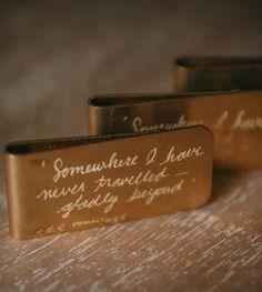 Engraved Brass Money Clip