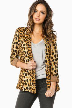 ShopSosie Style : Simona Leopard Blazer