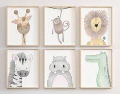 Safari Nursery Decor Safari set of 12 Animal Nursery Prints Nursery Prints, Nursery Wall Art, Nursery Decor, Boy Wall Art, Nursery Wall Stickers, Kids Wall Decor, Jungle Nursery, Animal Nursery, Safari Animals
