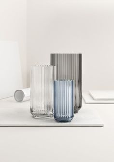Lyngby Vase Glass via Goods We Love Blue Glass Vase, Colored Glass, Glass Art, Verre Design, Glass Design, Scandinavian Living, Scandinavian Interior, Royal Copenhagen, Clear Vases