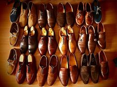shoes, if you don't have polished shoes it says a lot about the man.  Thats what I tell my sons :)