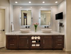 Vanity Mirror Light Placement : 1000+ images about Master bathroom on Pinterest Master bathrooms, Double vanity and Bathroom