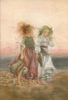 Girls on Beach by Lisi Martin ..... Could be us in another life ;-)