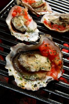 You searched for spicy grilled oysters asian pepper relish - SippitySup Grilling Recipes, Seafood Recipes, Traeger Recipes, Shellfish Recipes, Seafood Dishes, Grilled Oysters, Grilled Seafood, Bbq Oysters, Pepper Relish