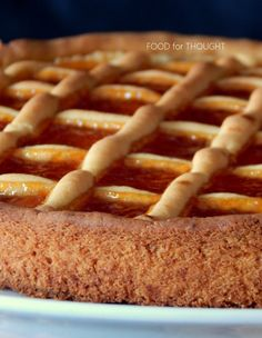 Food for thought: Πάστα φλώρα Greek Recipes, Pie Recipes, Dessert Recipes, Cooking Recipes, Desserts, Greek Cookies, Greek Sweets, Armenian Recipes, Pasta