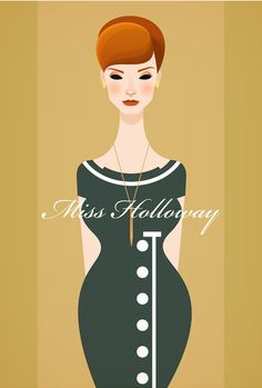Joan Holloway by English artist Stanley Chow