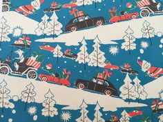 Vintage Christmas Gift Wrapping Paper  by TheGOOSEandTheHOUND