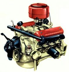 chevy inline 6 engine chevrolet six cylinder motor family hot rh pinterest com Ford 292 Engine Parts 292 Ford Engine Specifications