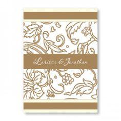 Graceful Foliage Floral Wedding Invitations