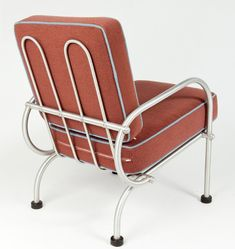 Art Deco Warren McArthur Chair Back View