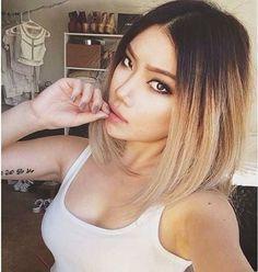 Shoulder Length Brown Blonde Ombre Ombre-Hair-Color-for