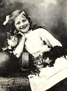 Cats in Photography: Girl with Cat