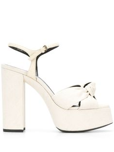 Shop online neutral Saint Laurent knot detail sandals as well as new season, new arrivals daily. Chunky High Heels, Open Toe, Heeled Mules, Ankle Strap, Knots, Yves Saint Laurent, Saints, Women Wear, Sandals
