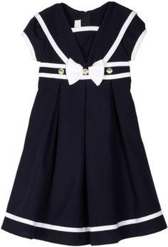 Amazon.com: Bonnie Jean Girls 4-6x Nautical Flare Dress With Ribbon Trim: Clothing