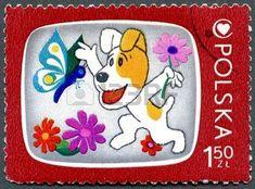 Stamp: Reksio, the Dog (Poland) (Children's Television Programs) Mi:PL 2247 Cartoon Dog, Cartoon Characters, Children's Health Center, Wire Fox Terrier, Fox Terriers, Stamp Printing, Love Stamps, Television Program, Stamp Collecting