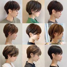 Japanese Short Hair, Asian Short Hair, Japanese Hairstyle, Girl Short Hair, Short Haircut Styles, Cute Short Haircuts, Girl Haircuts, Medium Hair Cuts, Short Hair Cuts