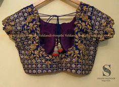 Wedding Saree Blouse Designs, Best Blouse Designs, Aari Work Blouse, Designer Blouse Patterns, Indian Blouse, Blouse Models, Blouse Outfit, Embroidered Blouse, Indian Designer Wear