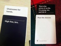 "Hilarious ""Cards Against Humanity"" Answers Memes Humor, Bad Memes, Crazy Funny Memes, Stupid Memes, Funny Quotes, Ecards Humor, Wtf Funny, Funny Shit, Hilarious"