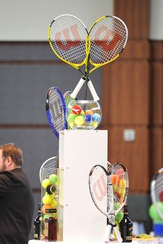 Great tennis theme centerpiece!