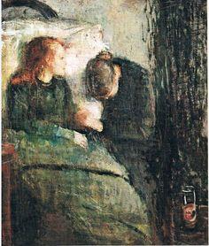 Edvard Munch, syk pike, 1885-86