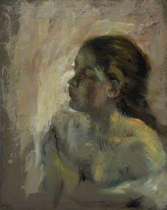 Edgar Degas: A Study of a Girl's Head, Late 1870s