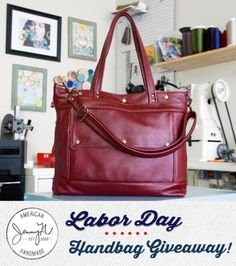 I hope I win this Labor Day leather handbag giveaway from Jenny N Design & Leather Hide Store!
