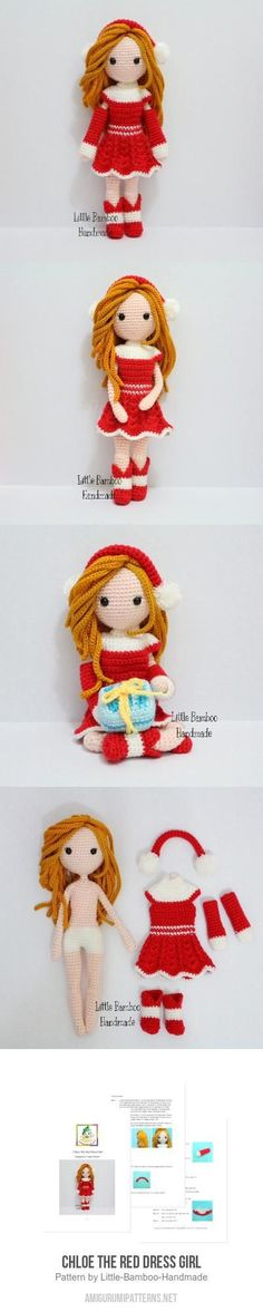 Chloe The Red Dress Girl Amigurumi Pattern