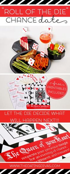 Card tricks, dinner, entertainment, and of course, FREE printables! Can't wait for date night! www.TheDatingDivas.com